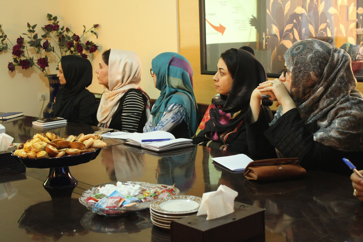 Democracy International delegation had meeting with WASSA staff