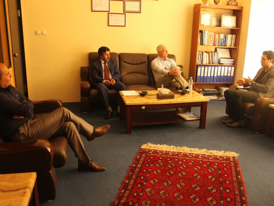 Democracy International delegation meeting with Exectutive Director of WASSA