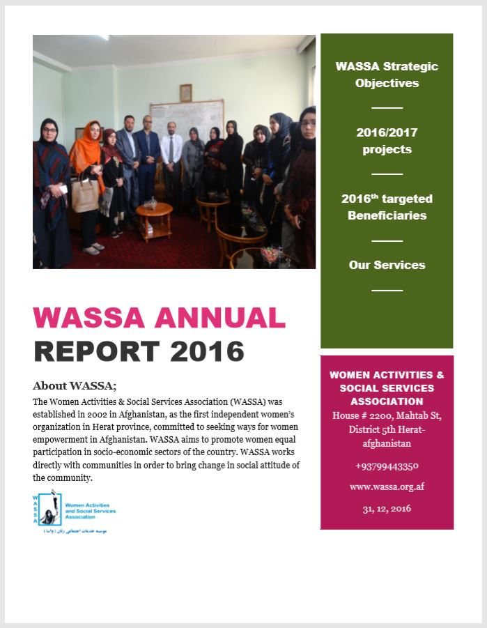 WASSA annual report 2016